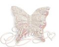 100 Silk Butterfly's White Iridescent