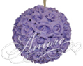 6 inches Silk Pomander Kissing Ball Lavender