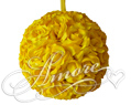 6 inches Silk Pomander Kissing Ball Saffron Yellow