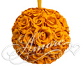 6 inches Silk Pomander Kissing Ball Burnt Orange
