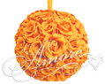 6 inches Silk Pomander Kissing Ball Popsicle Tangerine