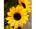 6 Feet Silk Sunflower Garland