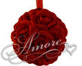 6 inches Silk Pomander Kissing Ball Burgundy