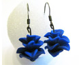 Handmade Polymer Clay Earrings Blue Bridesmaid