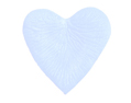 4000 Silk Rose Petals HEART Shape Sky  Blue