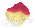 600 Silk Rose Petals Athena-Yellow and Red