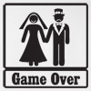 Game Over Wedding T Shirt