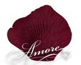 Deep Burgundy Silk Rose Petals Wedding