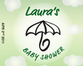 Personalized Green Lip Balm Baby Shower Favors