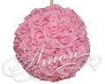 Pink  Silk Pomander Kissing Ball Wedding 6 inches