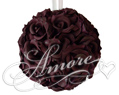 Rave Wine  Silk Pomander Kissing Ball Wedding 12 inches