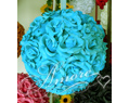 Tiffany Blue Silk Pomander Kissing Ball Wedding 6 inches