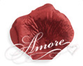 Crimson Red Metallic Red Silk Rose Petals Wedding 2000