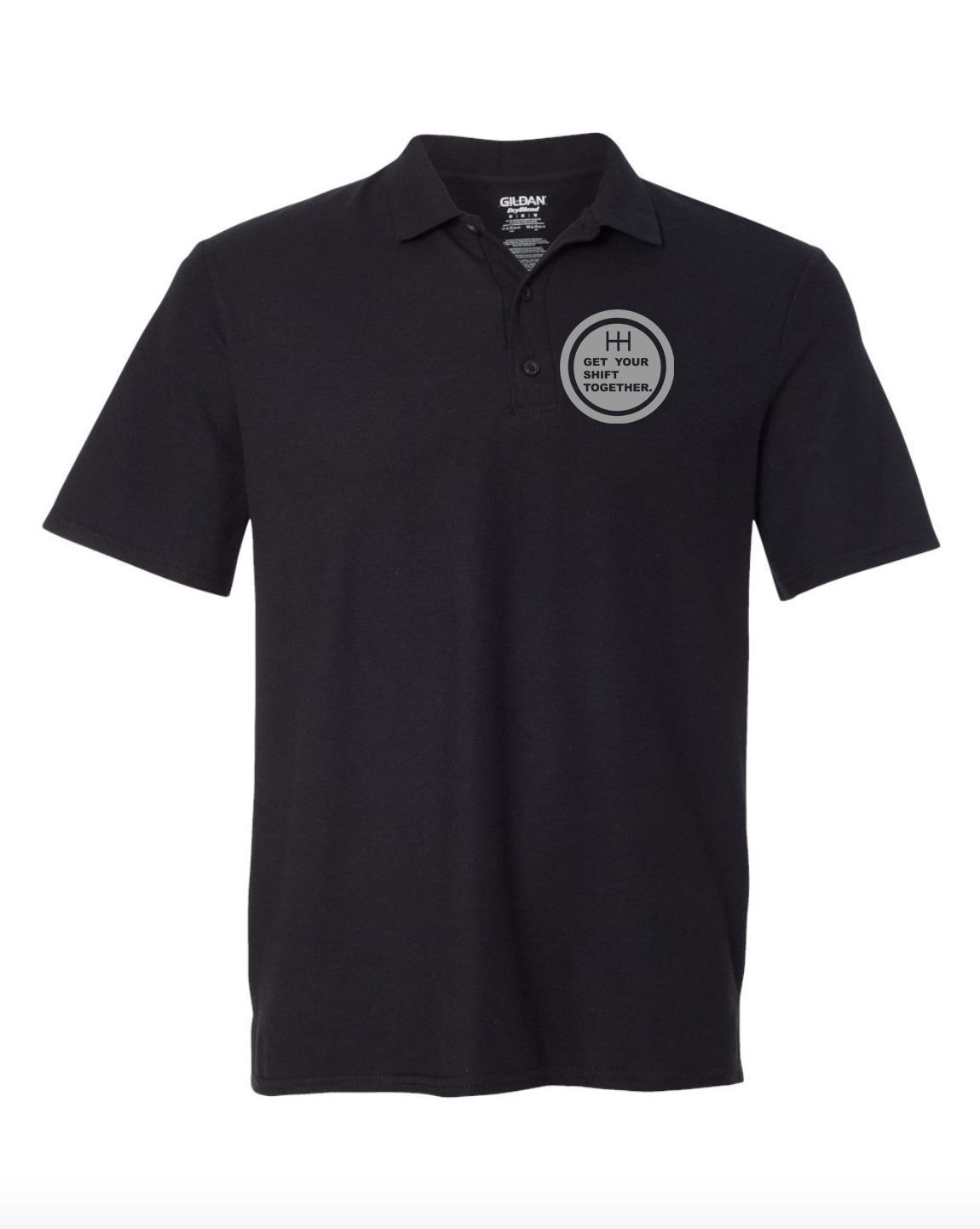 Get Your Shift Together Black POLO T-Shirt