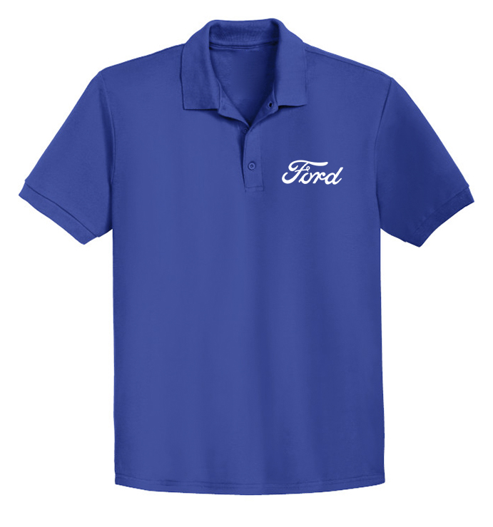 Ford Motor 150 250 350 Black Polo T-Shirt Emroidery