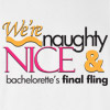 Naughty Nice Bachelorette Wedding T Shirt