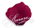 Burgundy Silk Rose Petals Wedding