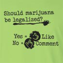 Should Marijuana be legalized Long Sleeve T-Shirt
