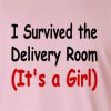 I Survived The Delivery Room (It's A Girl) Long Sleeve T-Shirt