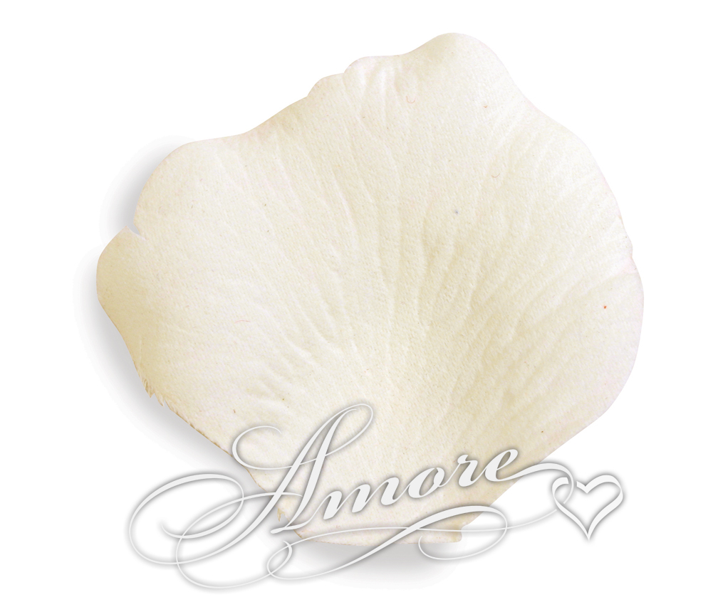 Light Ivory Silk Rose Petals Wedding